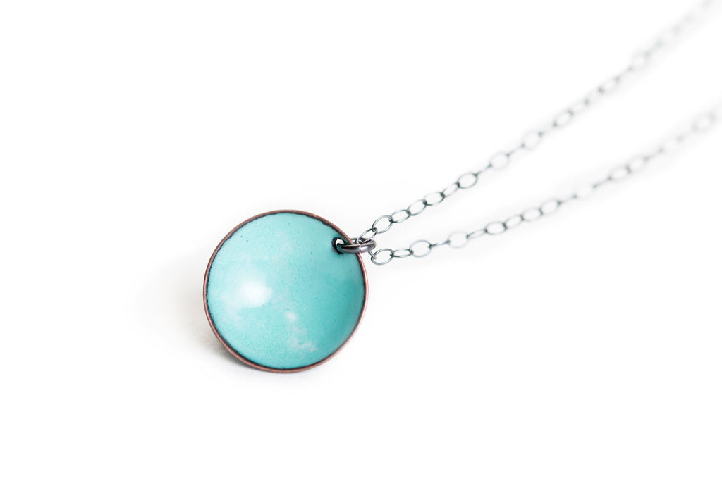 Pebble Necklace - Seafoam