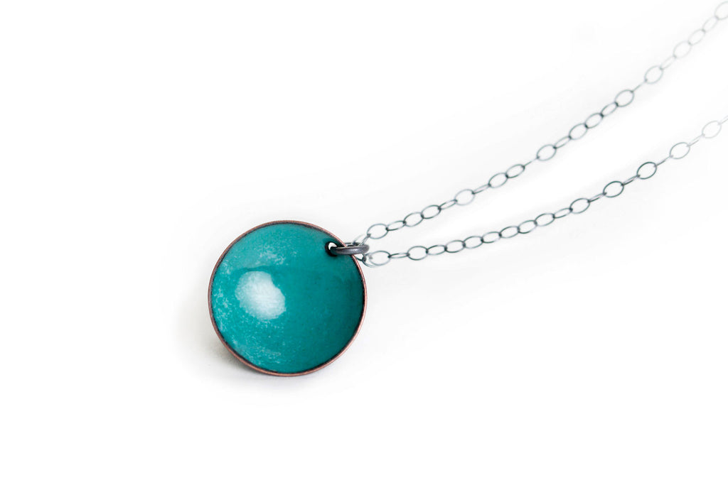 Pebble Necklace - Teal