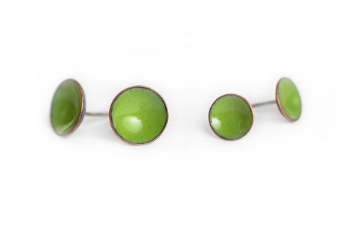 Pebble Studs - Leaf - Choose From Two Sizes