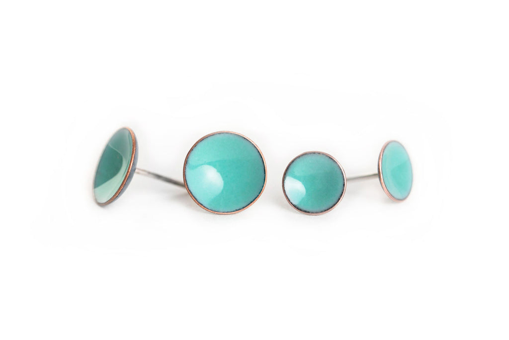 Pebble Studs - Seafoam - Choose From Two Sizes