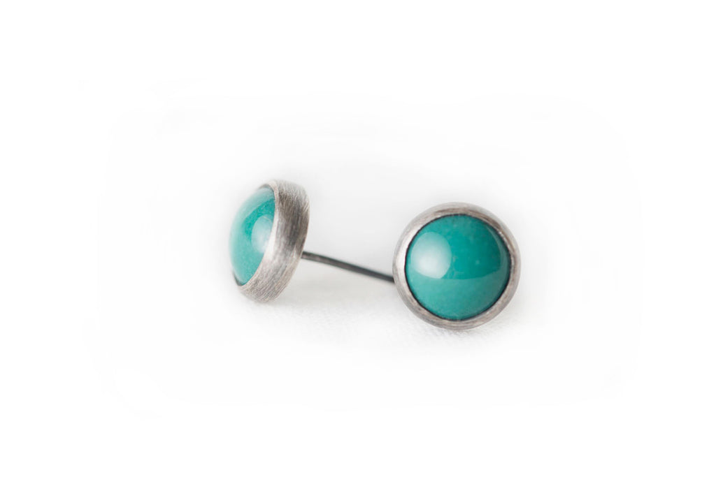 Teal Everyday Bezel Studs