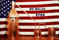 A Complete 20 Gallon Copper Moonshine Still: Make whiskey, vodka, essential oils and much more