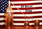 Ready to use 20 Gallon Copper Still for Sale