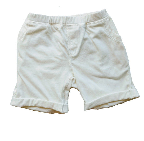 Organic Beach Shack Shorts in Natural White