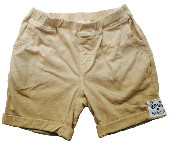 Organic Beach Shack Shorts in Mustard - Arakun