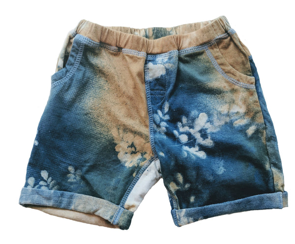 Organic Beach Shack Shorts in Indigo - Arakun