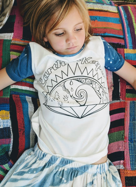 Earth Keeper Organic Cotton Tee In Stardust Indigo - Louv