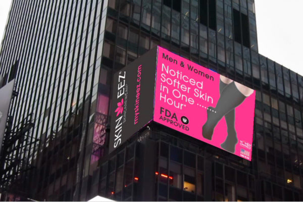 SKINEEZ® Featured In Times Square, NYC