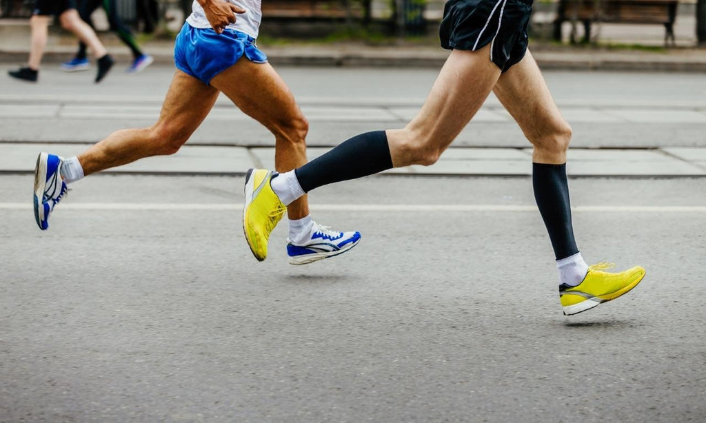 Compression socks during sports activity