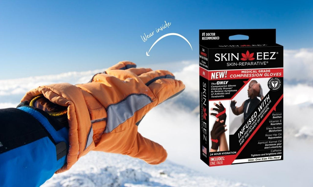 Compression gloves for winter sports