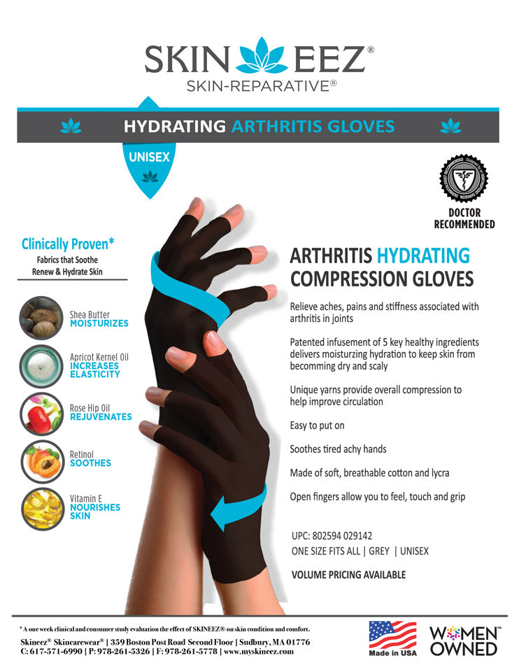 Skineez Arthritis Hydrating Compression Gloves