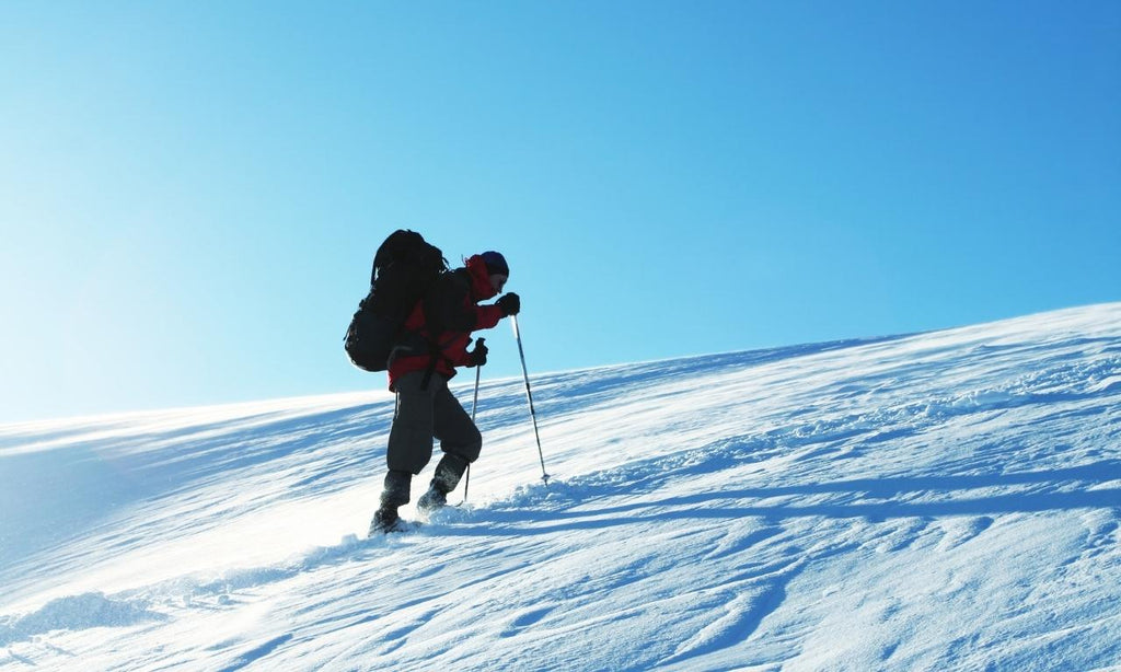 Winter hiking in compression garments
