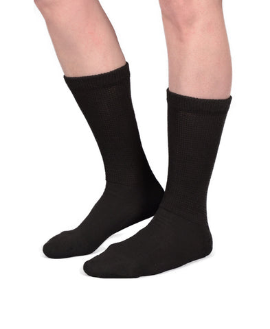 Black Diabetic Socks - Skineez