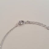 925 STERLING SILVER BRACELET WITH INFINITY CHARM PAVED WITH  SPARKLING CZ CRYSTALS.