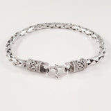 925 HANDMADE STERLING SILVER ROPE LINK CHAIN MEN'S BRACELET 6.00MM.