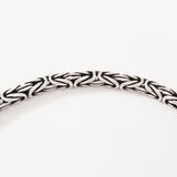 925 HANDMADE STERLING SILVER ROPE LINK CHAIN MEN'S BRACELET 3.00MM.