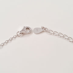 925 STERLING SILVER BRACELET WITH ETERNITY SYMBOL AND DOUBLE EVIL EYE CHARM PAVED WITH  SPARKLING CZ CRYSTALS.