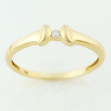 9K SOLID GOLD 0.02CT BRILLIANT CUT DIAMOND SOLITAIRE PROMISE RING.