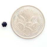 9K SOLID WHITE GOLD 0.30CT NATURAL SAPPHIRE CLASSIC STUD EARRINGS.