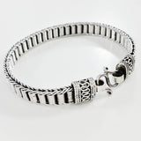 925 HANDMADE STERLING SILVER ROPE LINK CHAIN MEN'S BRACELET 8.60 mm.