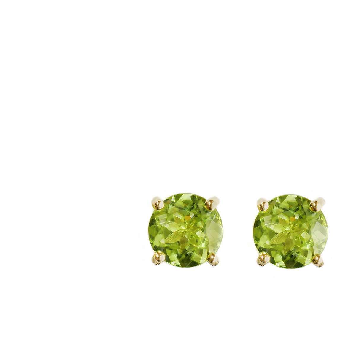 silver products earrings stud peridot birthstone original august