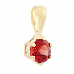 9K SOLID YELLOW GOLD 0.30CT NATURAL GARNET PETITE PENDANT.