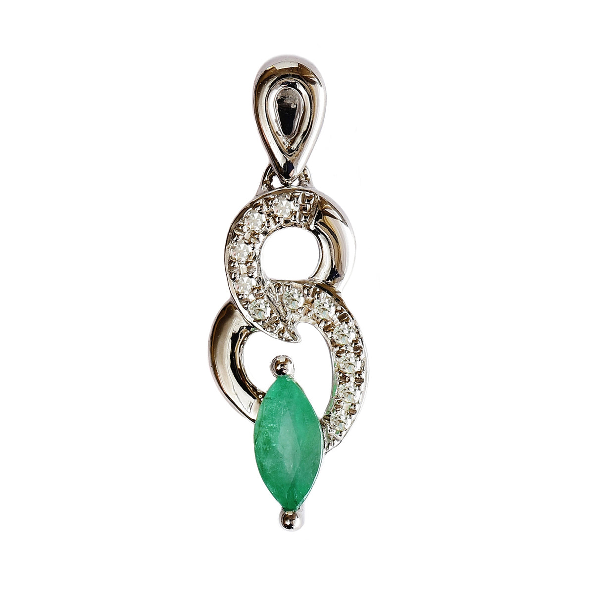 natural gold emerald full diamond p pendant pave heart huge item