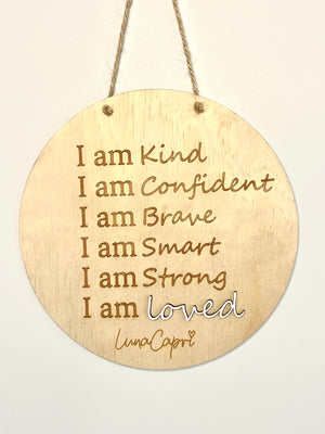 Load image into Gallery viewer, Pre Order (Mid April) - Luna's Mantra Affirmation Plaque