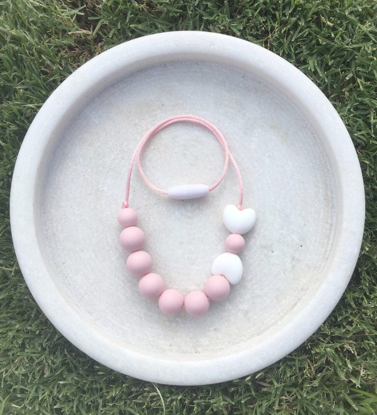 Pink silicone necklace from Little Woods