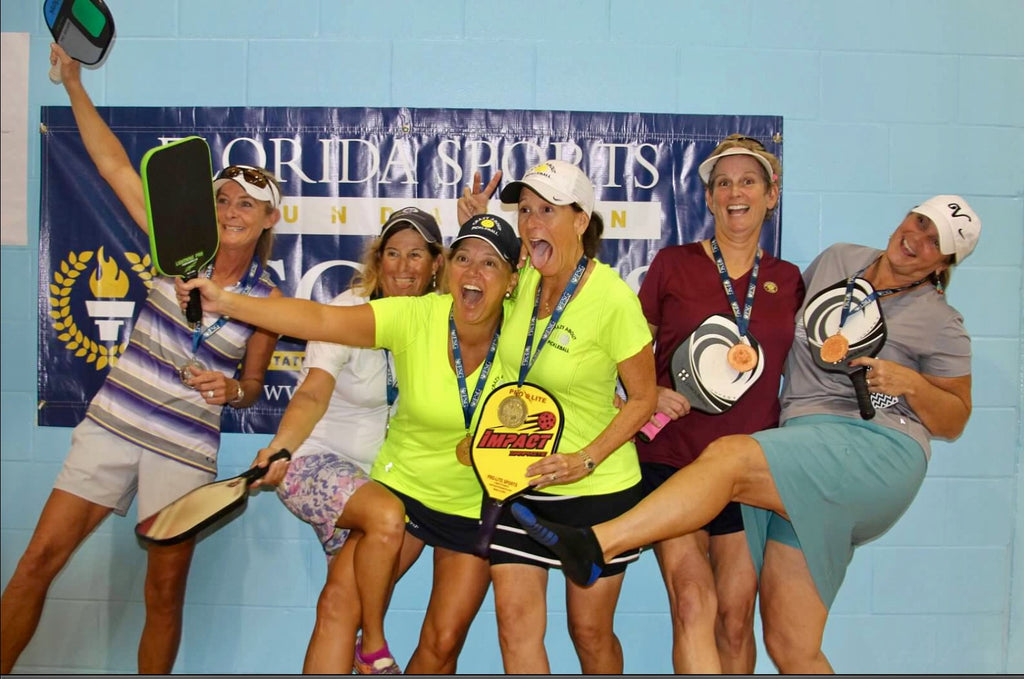 Gold Florida State Senior Games Women's Doubles 50-54