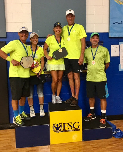 Gold at Florida State Senior Games in Mixed Doubles 50-54