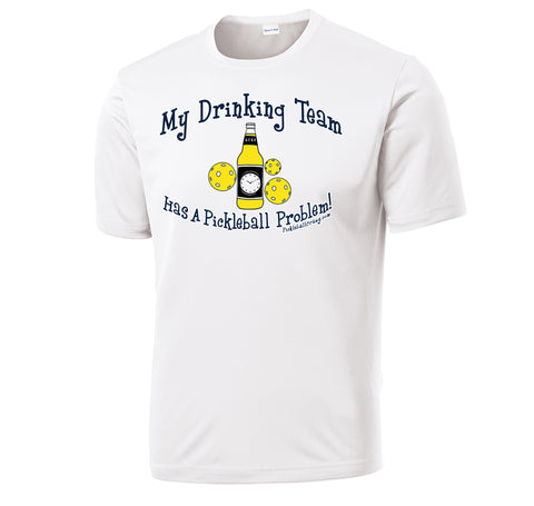 Mens Drinking Team Beer Design Short Sleeve Sport-tek shirt