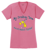 Women's Drinking Team Sport-Tek® Ladies Ultimate Performance V-Neck