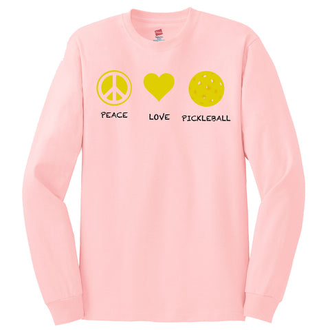 Peace Love Pickleball Hanes®  Tagless® Hanes Long Sleeve