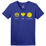 Peace Love PickleBall Hanes® Ladies ComfortSoft® S/S V-Neck