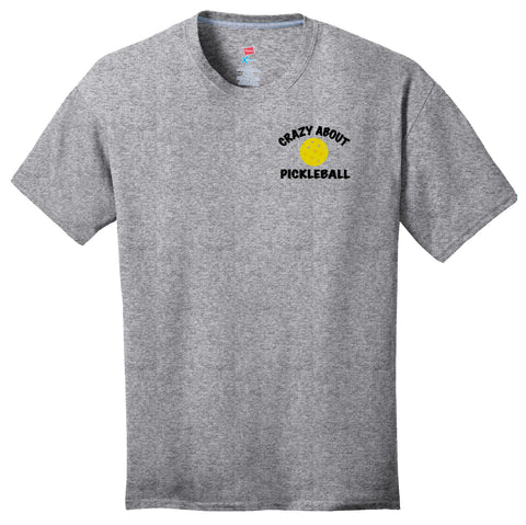 Crazy About PickleBall Hanes® Men's S/S Crew Neck T-shirt