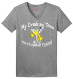 Drinking Team Darks Hanes® Ladies ComfortSoft® Short Sleeve V-Neck