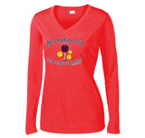 Women's Drinking Team Wine Design Long Sleeve Sport-Tek