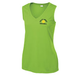 Ladies Lime-Shock Sport-Tek® Sleeveless PosiCharge® Competitor™ V-Neck Tee.