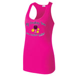 Women's Drinking Team Wine design Razor Back tank