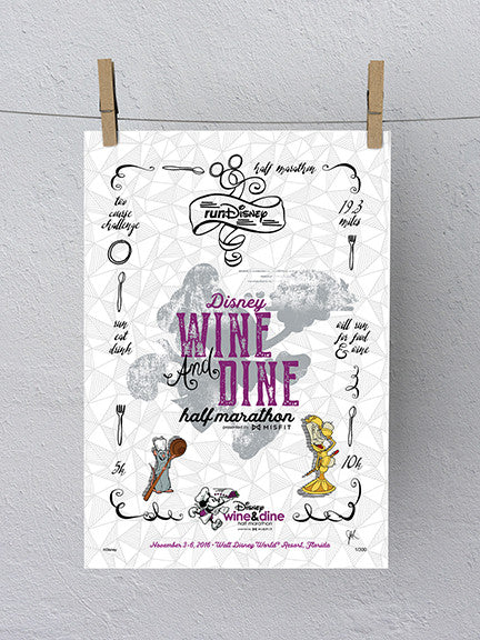 2016 Disney Wine & Dine Half Marathon Print (Limited Edition)