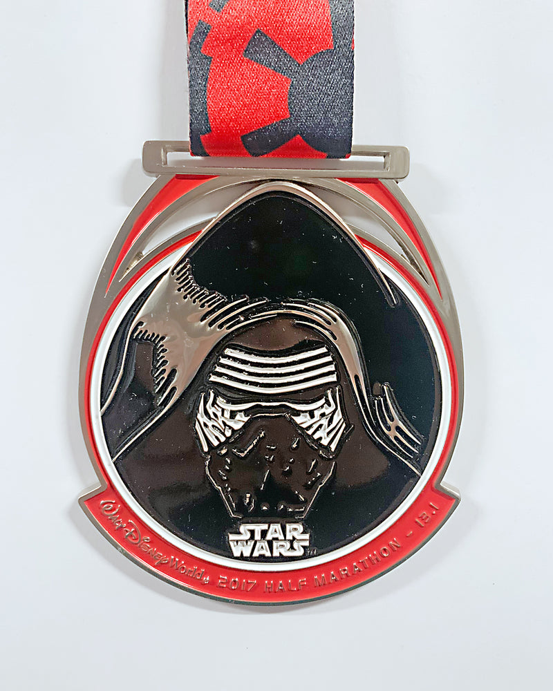 2017 Star Wars Dark Side Half Marathon Medal