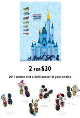 2016/2017 Walt Disney World® Marathon Weekend Event Poster(Limited Offer)