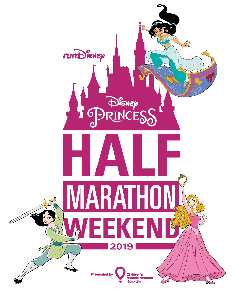 2019 Disney Princess Half Marathon Weekend Poster Print