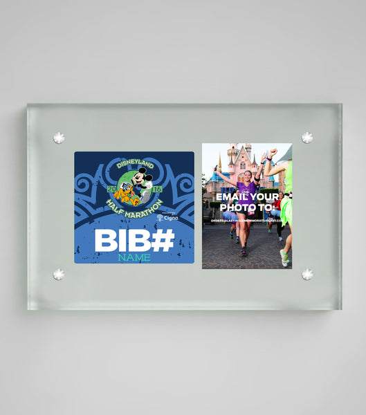 Acrylic Art Bib & Photo Display Disneyland® Half Marathon