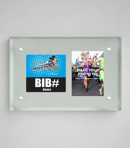 Acrylic Art Bib & Photo Display Walt Disney World® Marathon Weekend