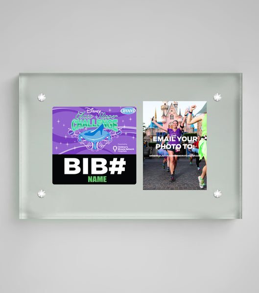 Acrylic Art Bib & Photo Display Princess Half Marathon