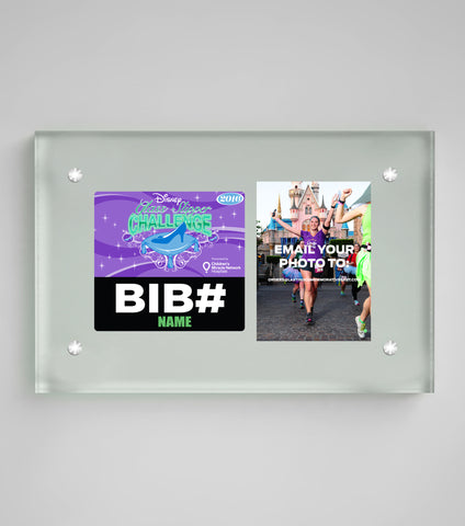 Acrylic Art Bib & Photo Display Princess Half Marathon Weekend
