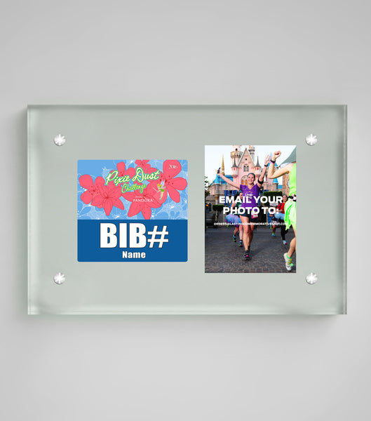 Acrylic Art Bib & Photo Display Tinkerbell Half Marathon