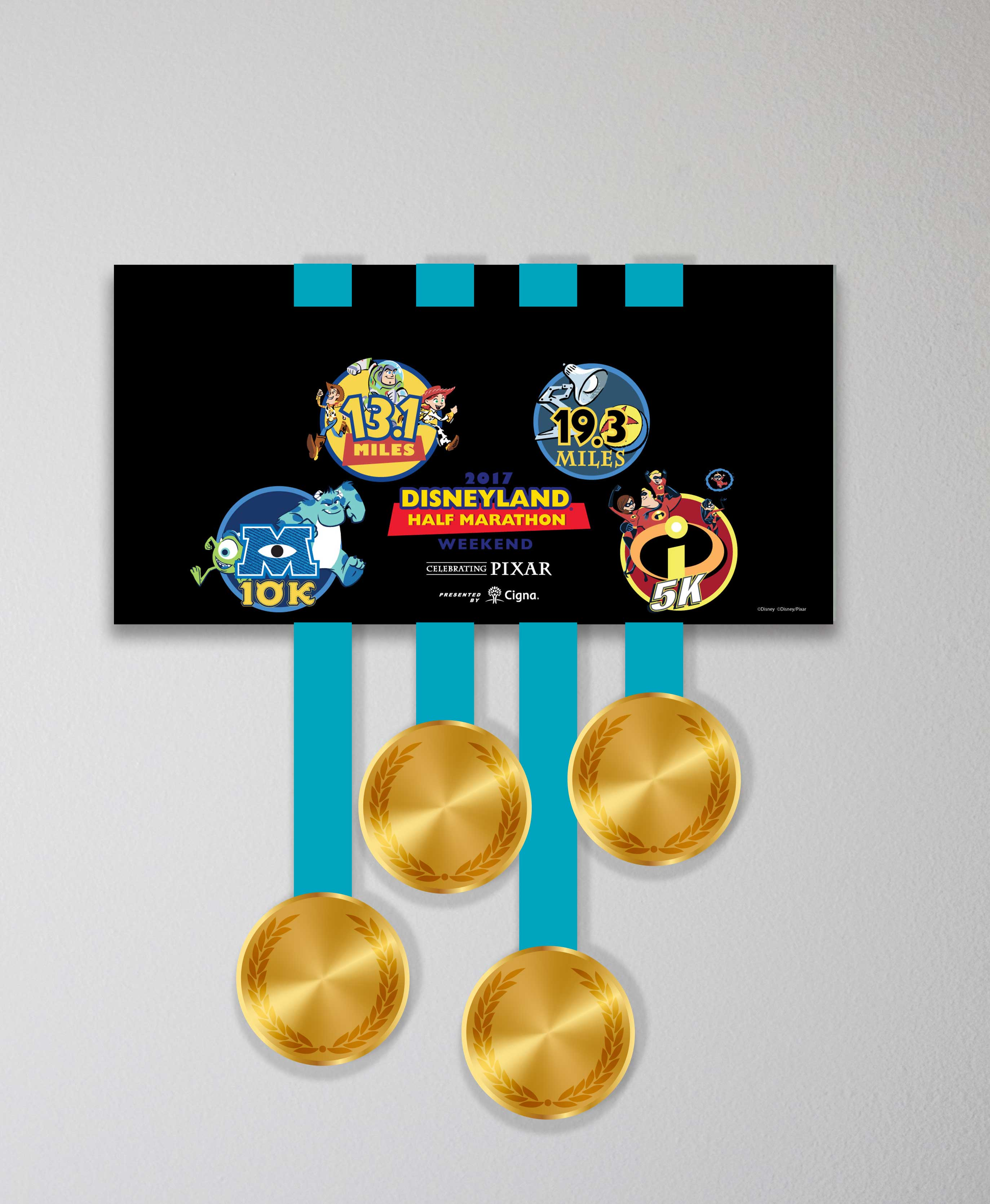 Acrylic Art: Disneyland® Half Marathon Weekend Medal Display: Mini